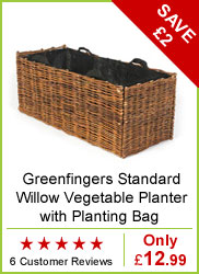 Greenfingers Standard Willow Vegetable Planter with Planting Bag