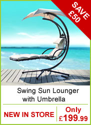 Swing Sun Lounger with Umbrella