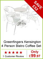Greenfingers Kensington 4 Person Bistro Coffee Set